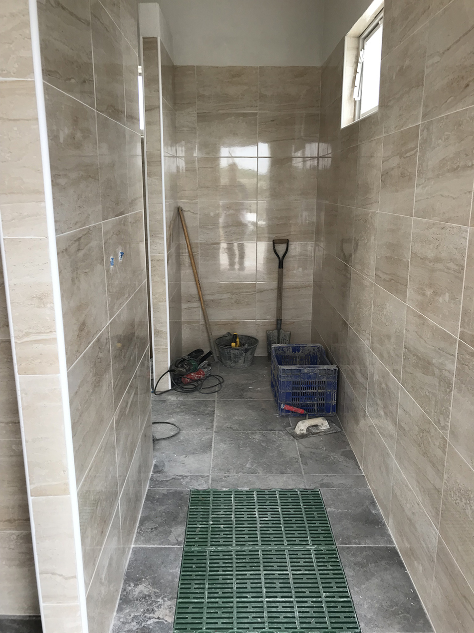 Zona dutxes.