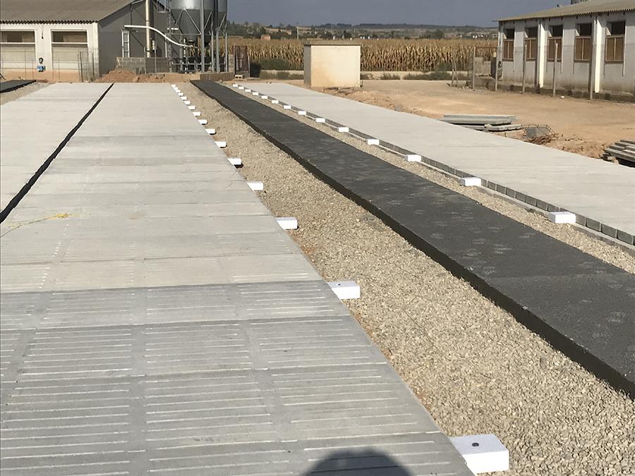 Slats y zonas macizas preparadas para extender soleras.